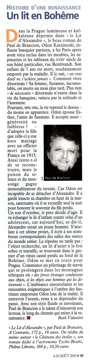 Le nouvel Observateur n°2126 août 2005