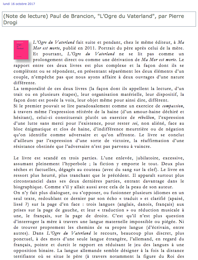 L'Ogre du Vaterland par Pierre Drogi